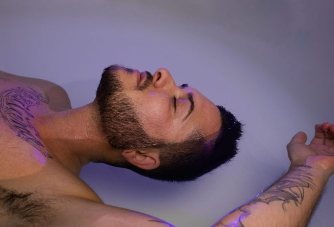 Man Float Therapy Recovery